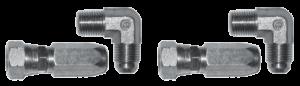 2200022 Set of elbow fittings flexible tube quarter BSPP