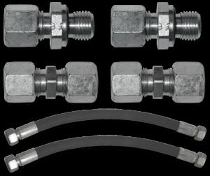2200049 Set of fittings quarter BSPP + tube lg 500 mm