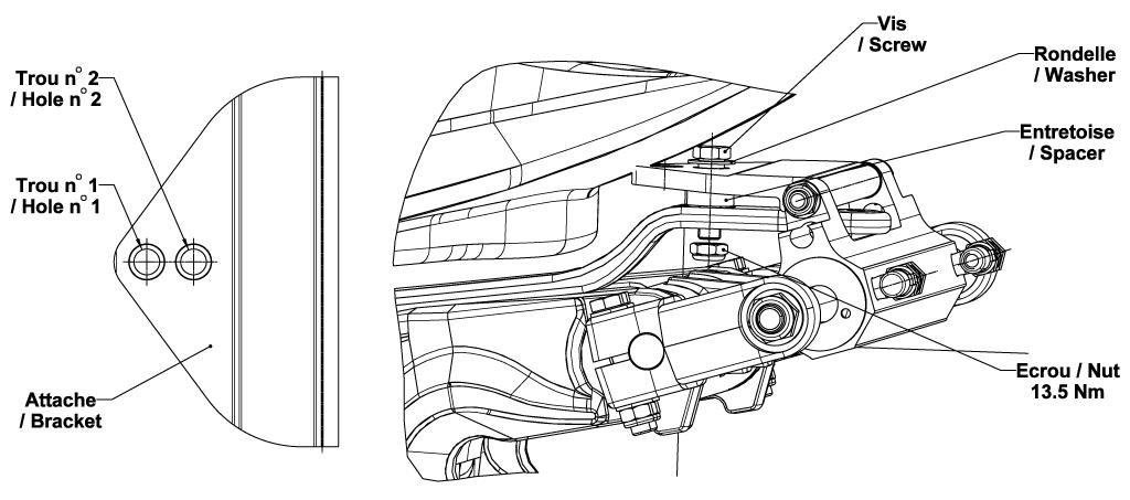 Adapter kit for Honda Motors - Schéma