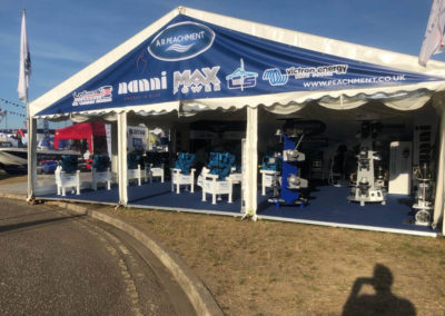 The stand at the Southampton Boat Show